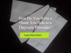 Thank-You Notes for Daycare Providers and Teachers