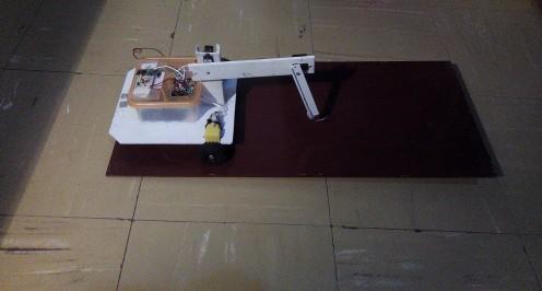 Robot climbing a platform