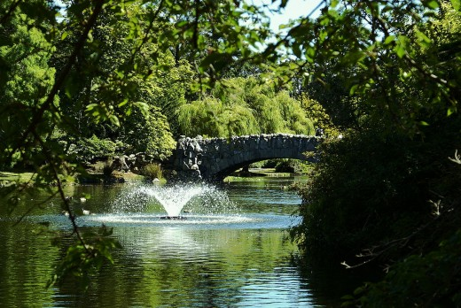 Fountain and bridge in Beacon Hill Park