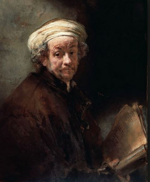 Rembrandt in Old Age - A Self Portrait