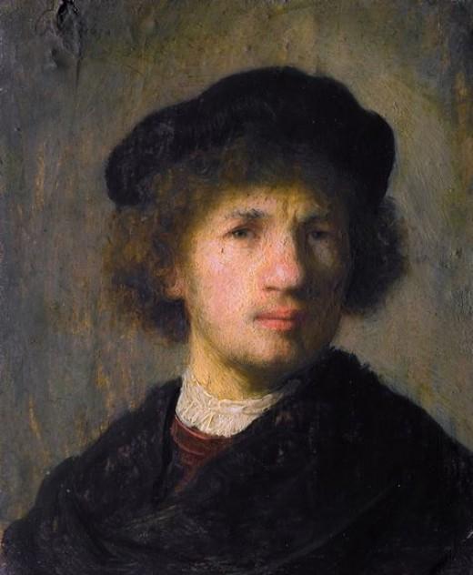 Rembrandt as a Young Man - A Self Portrait