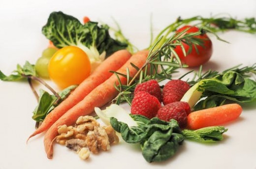 Maintaining a diet of mostly fruits and vegetables will help you to stay at a healthy weight