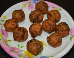 How to Make Onion Bondas or Onion Fritters/Pakoras