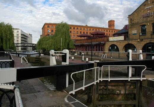 Regent's Canal Lock next to Camden Market