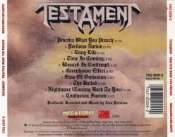 "Review: Testament ""Practice What You Preach"" the best album by Testament in the 1980's"