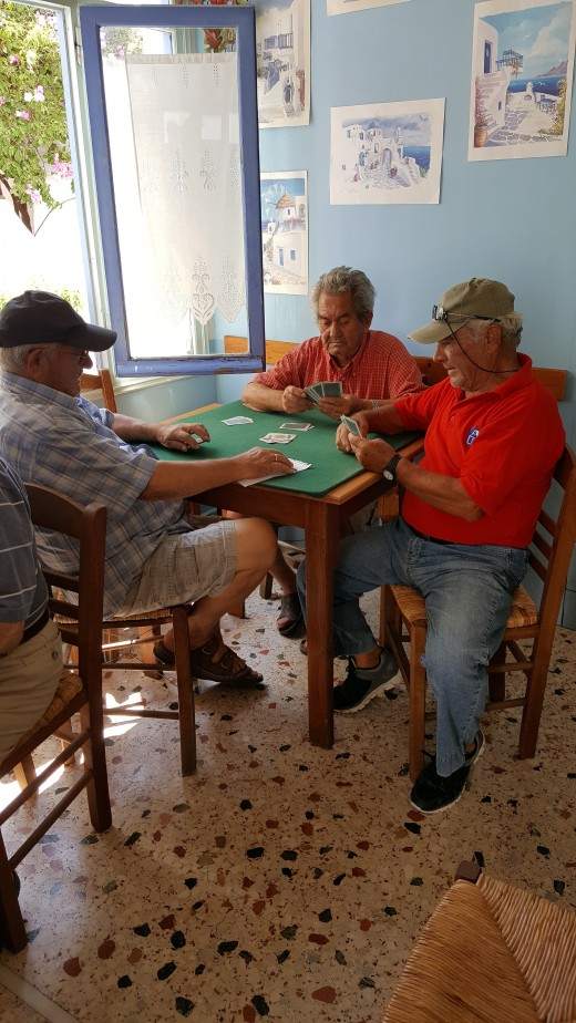 Prodromos Village - villagers playing cards.