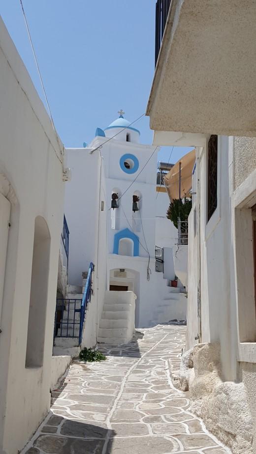 Lefkes - The Church of Agia Triada