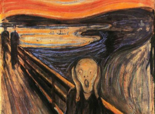 """Edvard Munch reveals an honest and perhaps even ugly glimpse of his inner troubles and feelings of anxiety, putting more importance on personal meaning than on technical skill or """"beauty,"""" a traditional goal of art."""