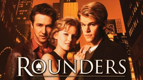 "Matt Damon played the starring role in the hit movie about Texas Holdem' called ""Rounders."""