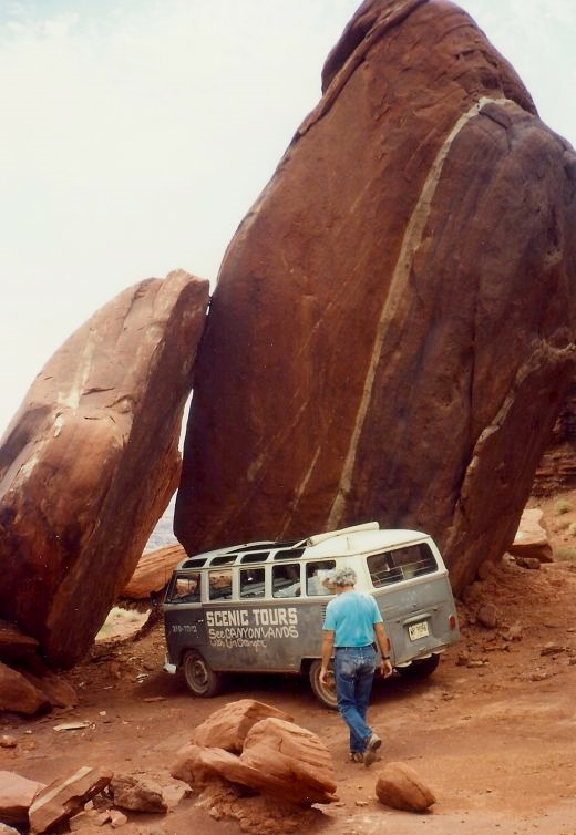 Our tour van in Canyonlands