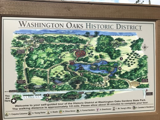 Map of Washington Oaks State Park