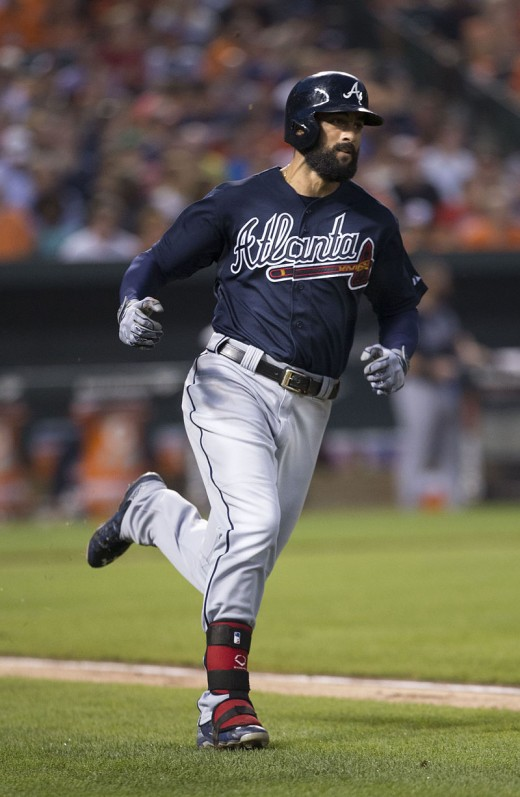 Nick Markakis, running his way to another hit.