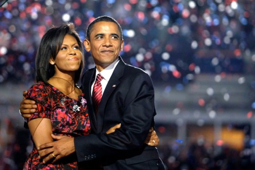 Barrack and Michelle Obama at the 2008 Democratic Convention