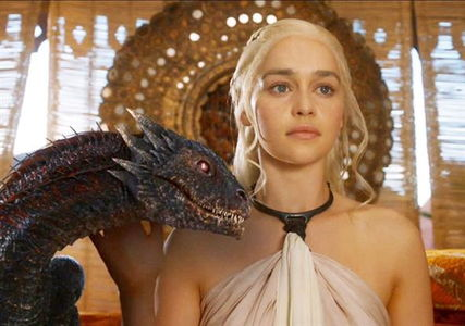 Daenerys and a young Drogon