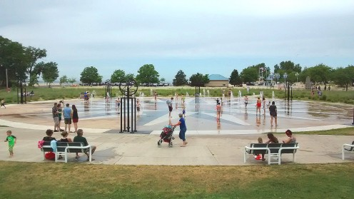 Whirlpool Compass Fountain is a popular attraction by the beach in St. Joseph.