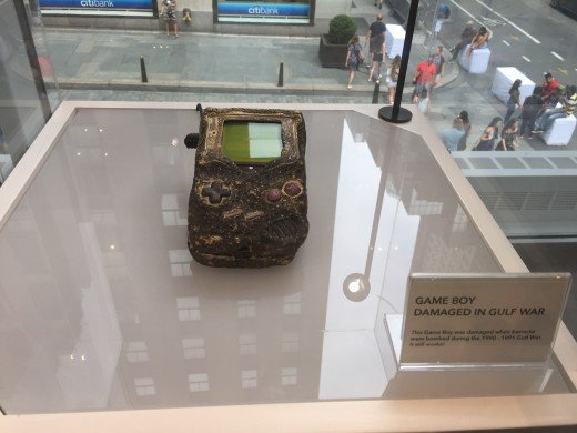 Gameboy on display in the Nintendo World museum.