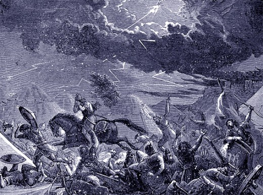 Angel of God killed Sennacherib's army of 185,000 men.