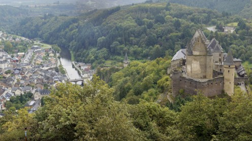 Vianden Castle and town, Luxembourg