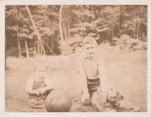 The oldest photo I have of my brother, Jim and myself.