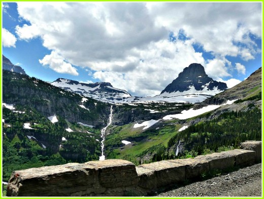 Driving on Going to the Sun Road in Glacier National Park can be scary!