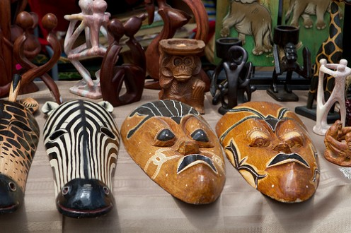 African-inspired rooms can take in accessories, textiles, furniture and art from the entire continent.