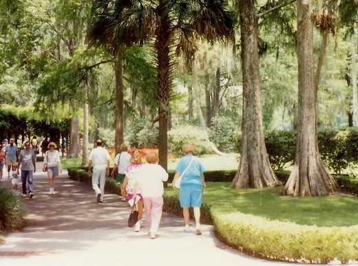 Walking into the attraction of Silver Springs in Florida