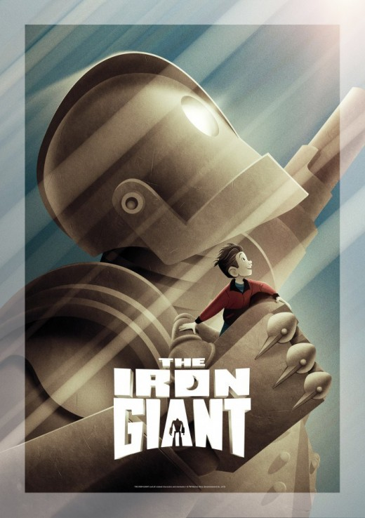 The Iron Giant poster (signature edition). The signature editions contains deleted scenes and remastered visuals.