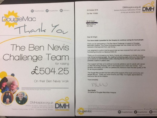 We raised over 500 GBP for The Douglas Macmillan Hospice and had great fun during the process.