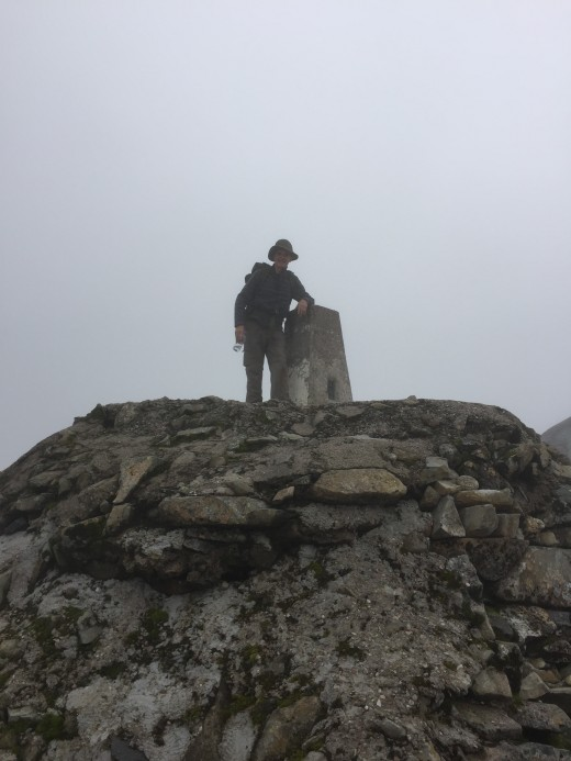 Another photo of me at the summit trig point.