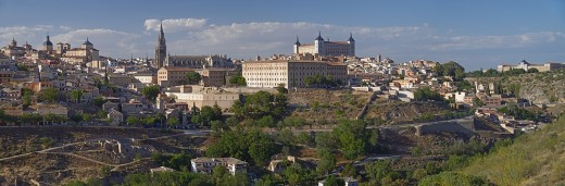 Panorama of Toledo from the south.