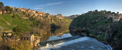 Panorama of the Tagus River in Toledo, Spain