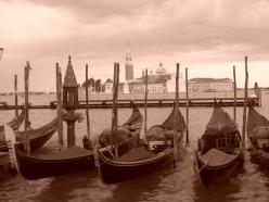 Gondola's in Venice, Italy