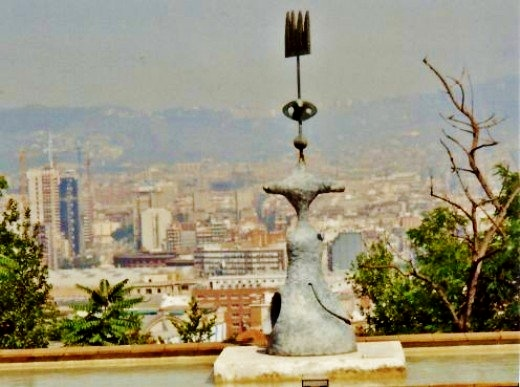 View of Barcelona below from atop Montjuic & the Miro Foundation.