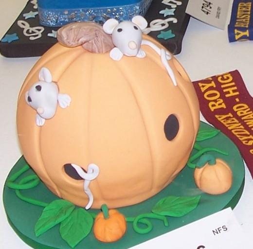Mice in a pumpkin