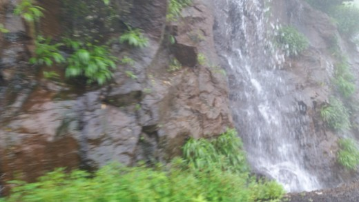 A small waterfalls in Matheran