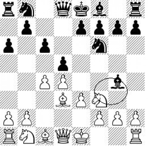 This is a pin. The black's bishop is giving a threat to the white's queen.
