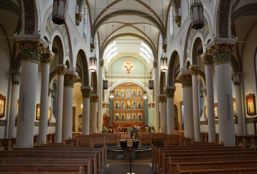Interior of St. Francis Cathedral in Santa Fe, New Mexico