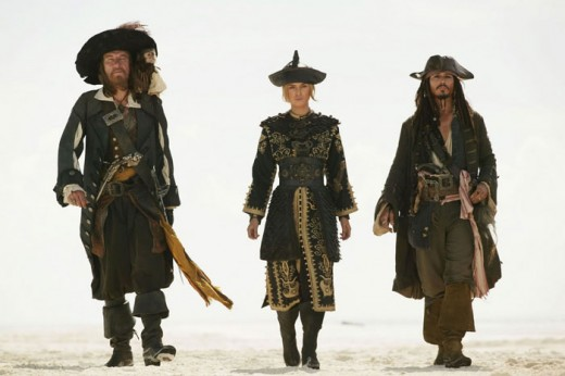 "The ""Pirates Of The Caribbean"" franchise, led by Johnny Depp (right), has gone on to earn more than $4.5 billion worldwide."