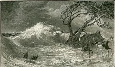 Hurricane and Rough Seas