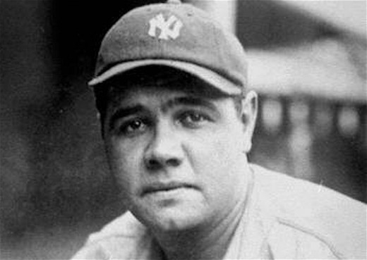 """Babe"" Ruth is still considered by many fans to be the greatest baseball player ever."
