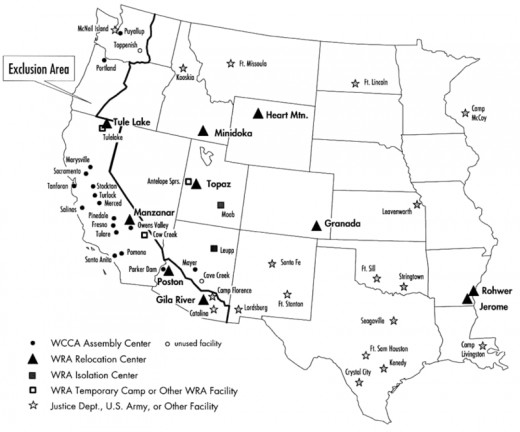 Interment camps for Japanese Americans spread across the West.