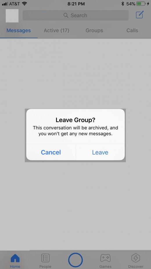 "Tap ""Leave."""