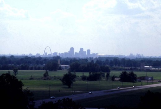 St. Louis Seen From Cahokia