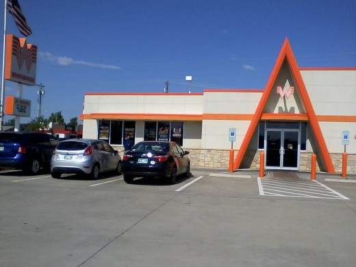 The south side of the front: Mustang, Oklahoma's Whataburger.
