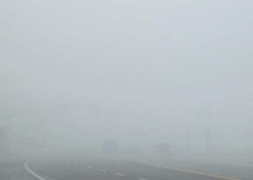 An image of dense fog.