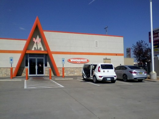 The north side of the front: Mustang Oklahoma's Whataburger