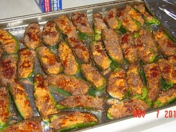 Stuffed Jalapeno Pepper Halves