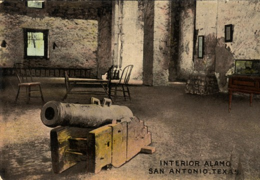Interior Alamo, San Antonio, Texas, Cannon