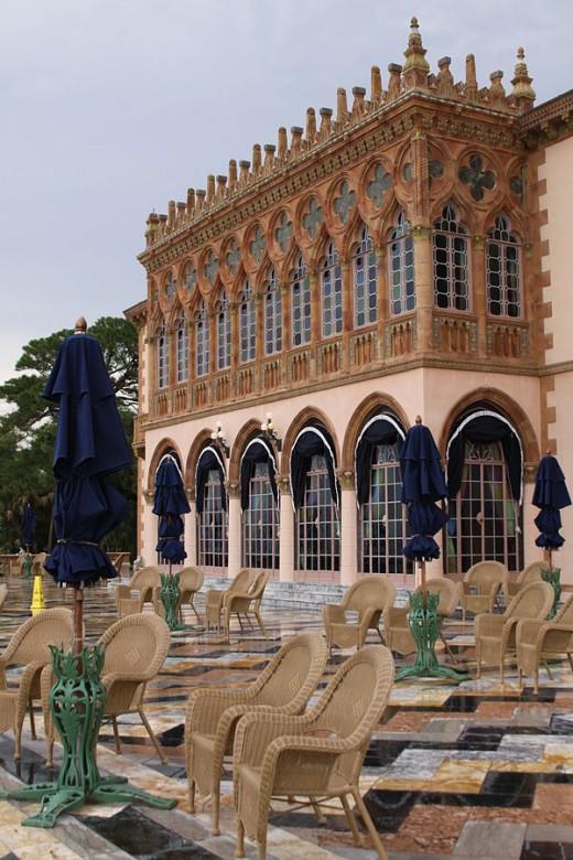 Cà d'Zan west façade. Sarasota, Florida.