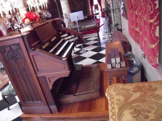 An organ in The Cà d'Zan, Sarasota, Florida, USA